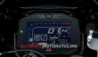 2017 Suzuki GSX-R1000 Concept gauges