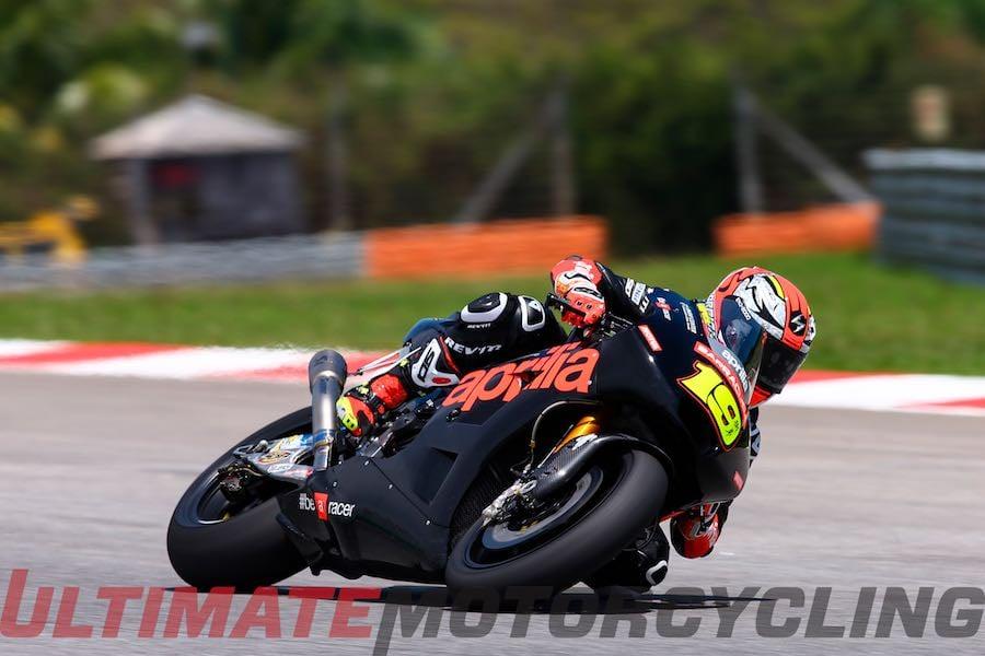 Aprilia RS-GP Development Continues at MotoGP Test Alvaro Bautista