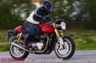 2016 Triumph Thruxton R riding