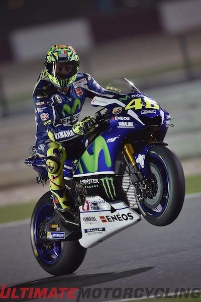 Yamaha's Valentino Rossi at Qatar Practice MotoGP Friday