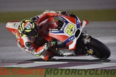 Ducati Team's Andrea Iannone at Qatar MotoGP Practice Friday