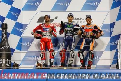 2016 Qatar MotoGP Results Podium