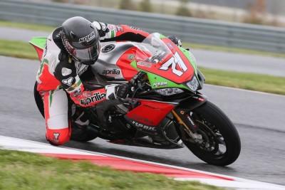 Claudio Corti doubles at NJMP MotoAmerica on RSV4