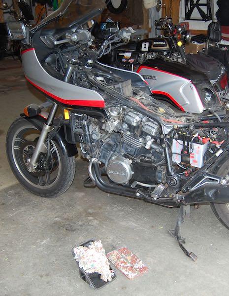 Honda Sabre motorcycle maintenance