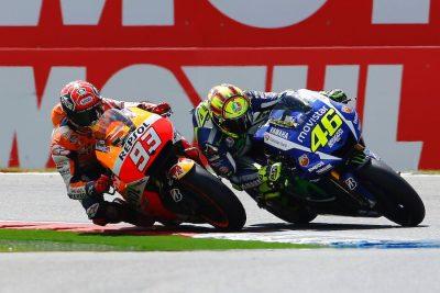 Yamaha's Valentino Rossi and Honda's Marc Marquez battles head to Mugello