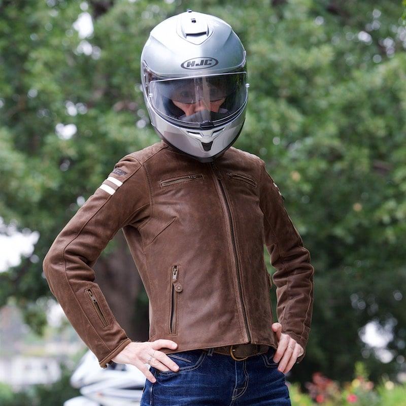 Black, X-Small Joe Rocket Womens Ladies Vintage Leather Jacket