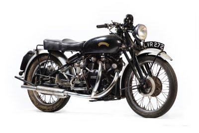 1951 Vincent Series C Black Shadow front