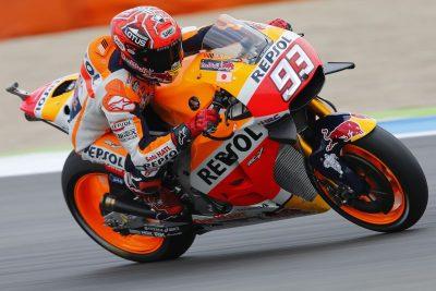 Honda Marc Marquez at Assen MotoGP Friday Practice