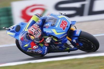 Suzuki Maverick Vinales at Assen MotoGP Friday Practice