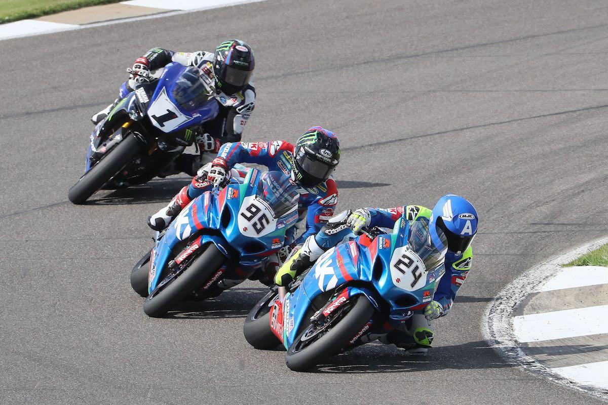 Suzuki's Toni Elias leads Barber MotoAmerica Superbike