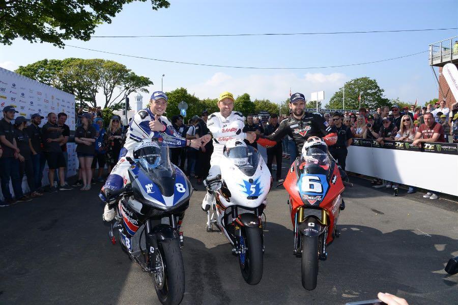 2016 Isle of Man TT Zero podium