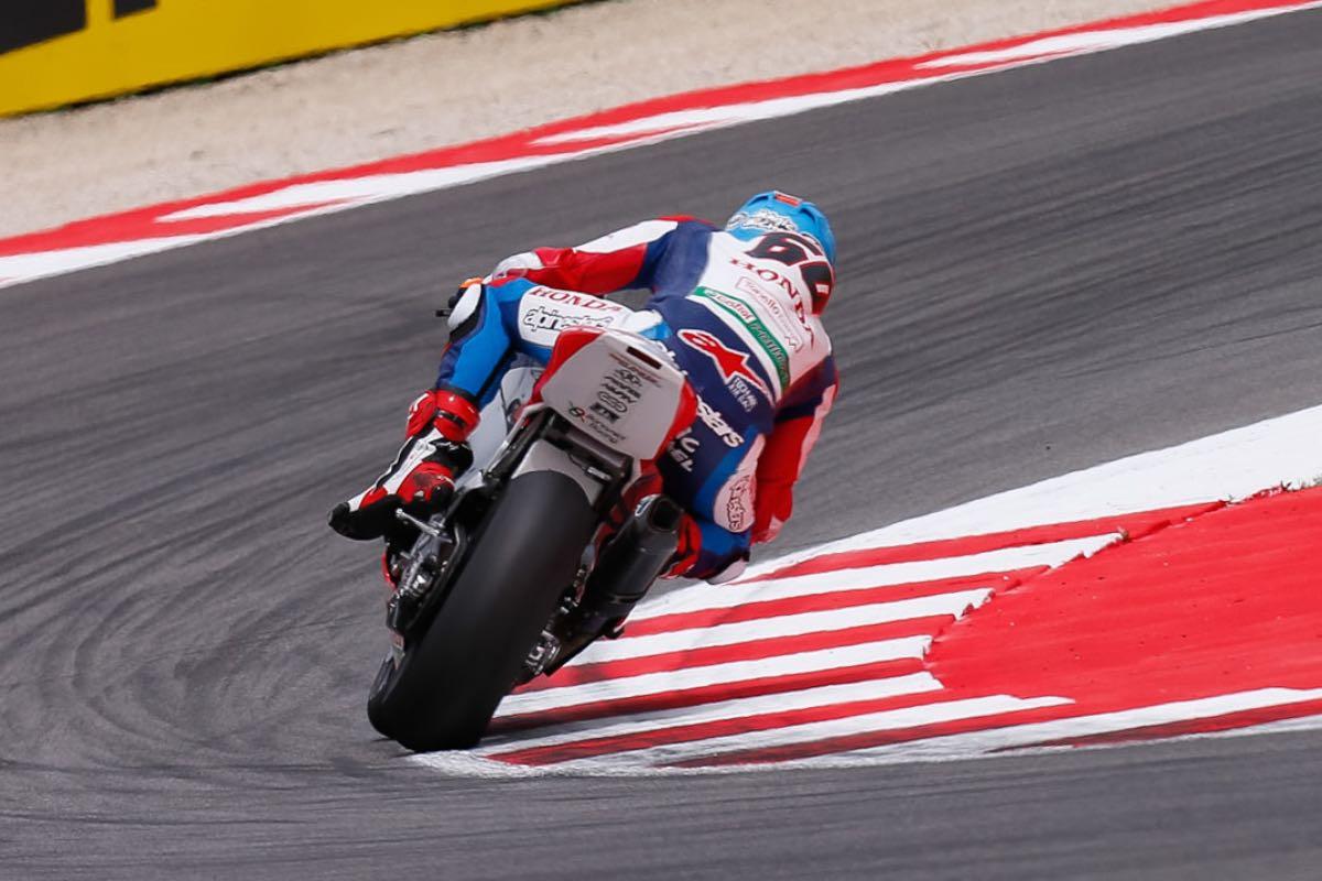 Honda's Michael van der Mark at Misano SBK Race 1