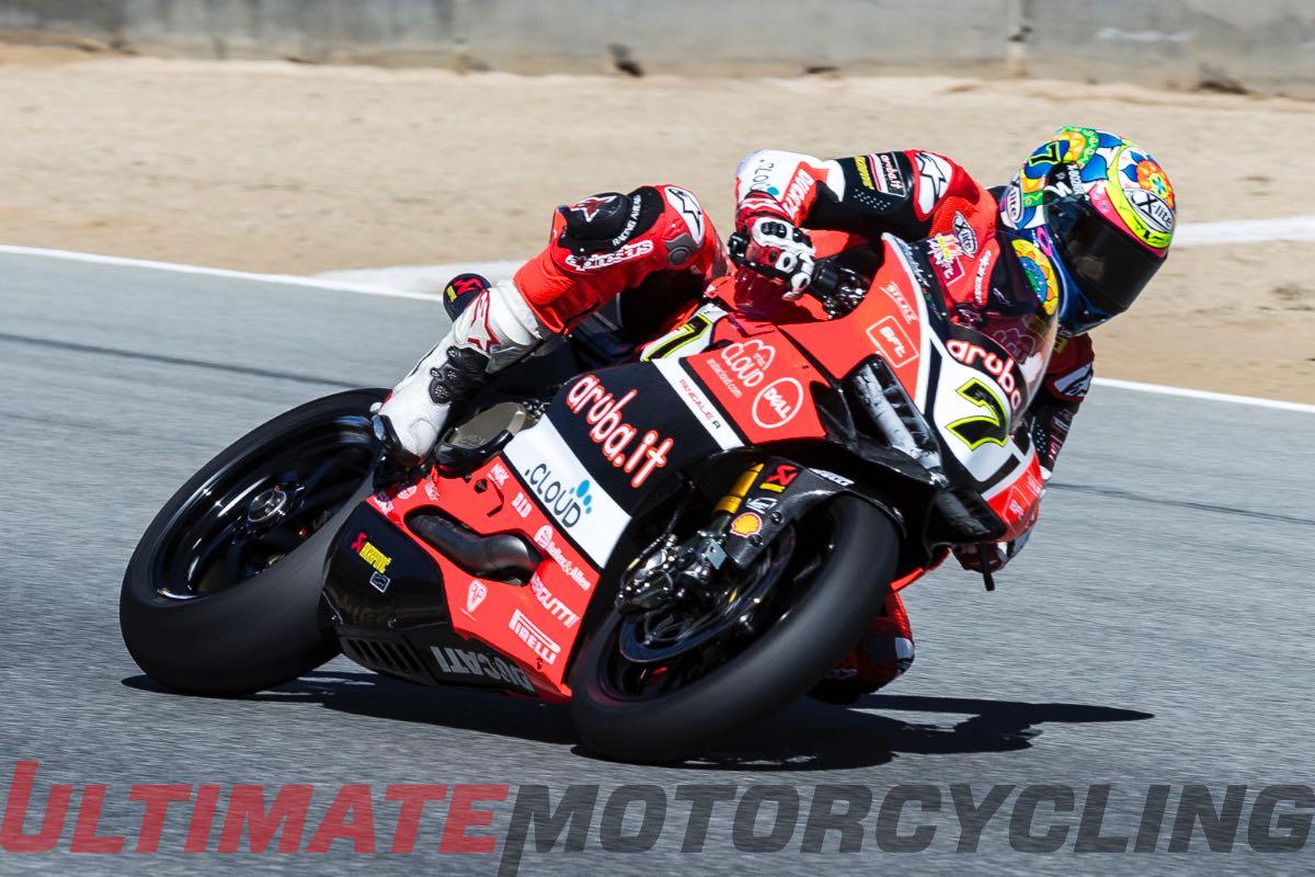 Ducati's Davies Takes Charge at Laguna Seca SBK Friday