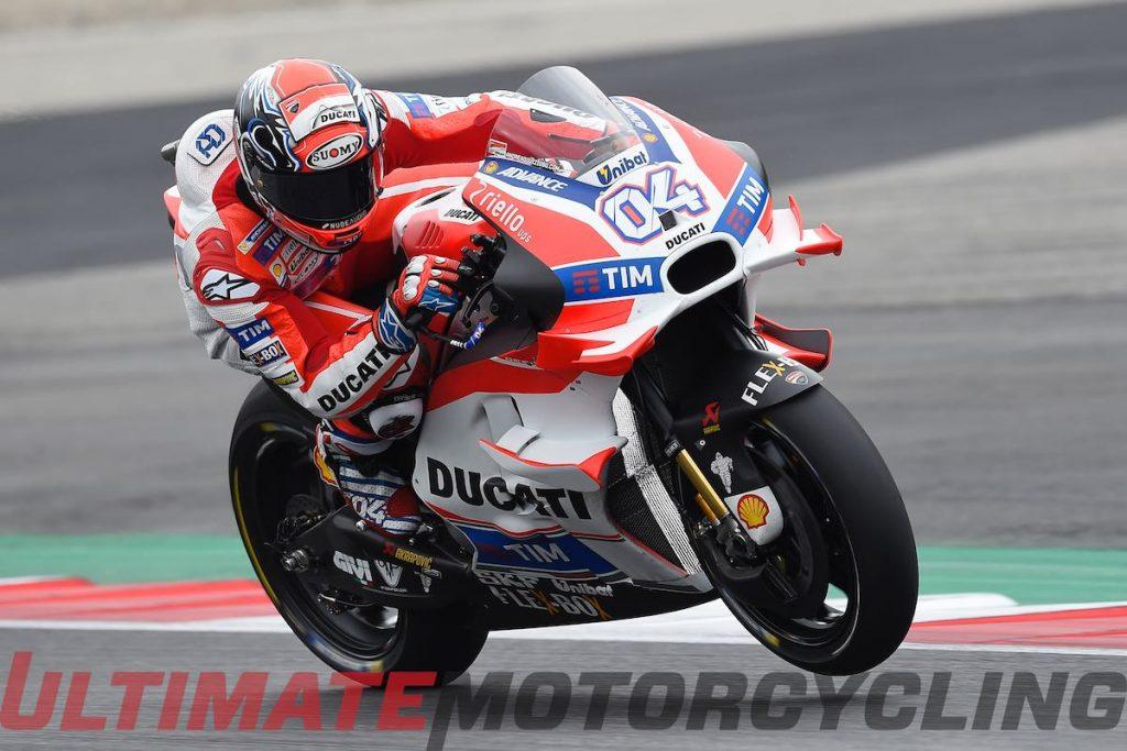 Ducati Team's Andrea Dovizioso leads Friday Practice Austria MotoGP