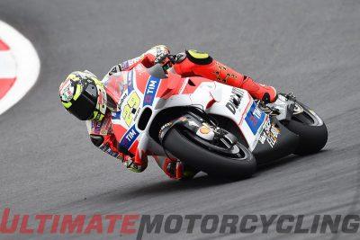 Ducati's Andrea Iannone at Austria MotoGP Friday practice