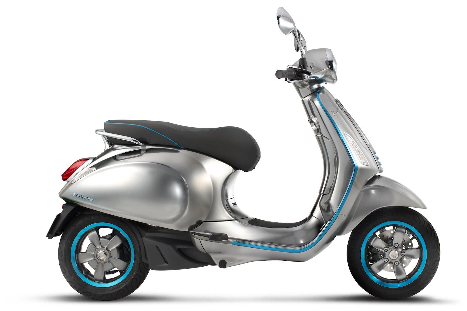 Vespa Elettrica Electric Scooter   2016 EICMA Debut
