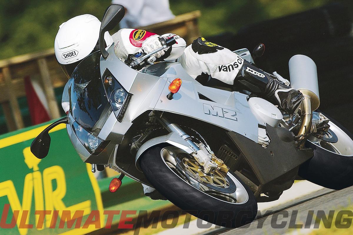 MZ 1000S German Motorcycle on track