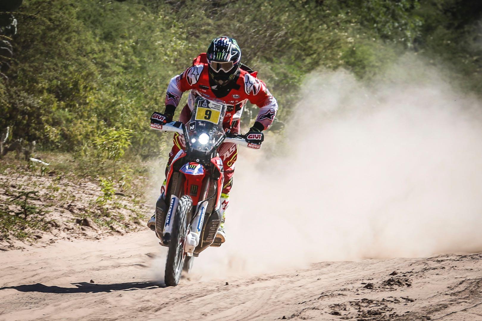 Honda's Ricky Brabec, 2017 Dakar Rally Stage 2