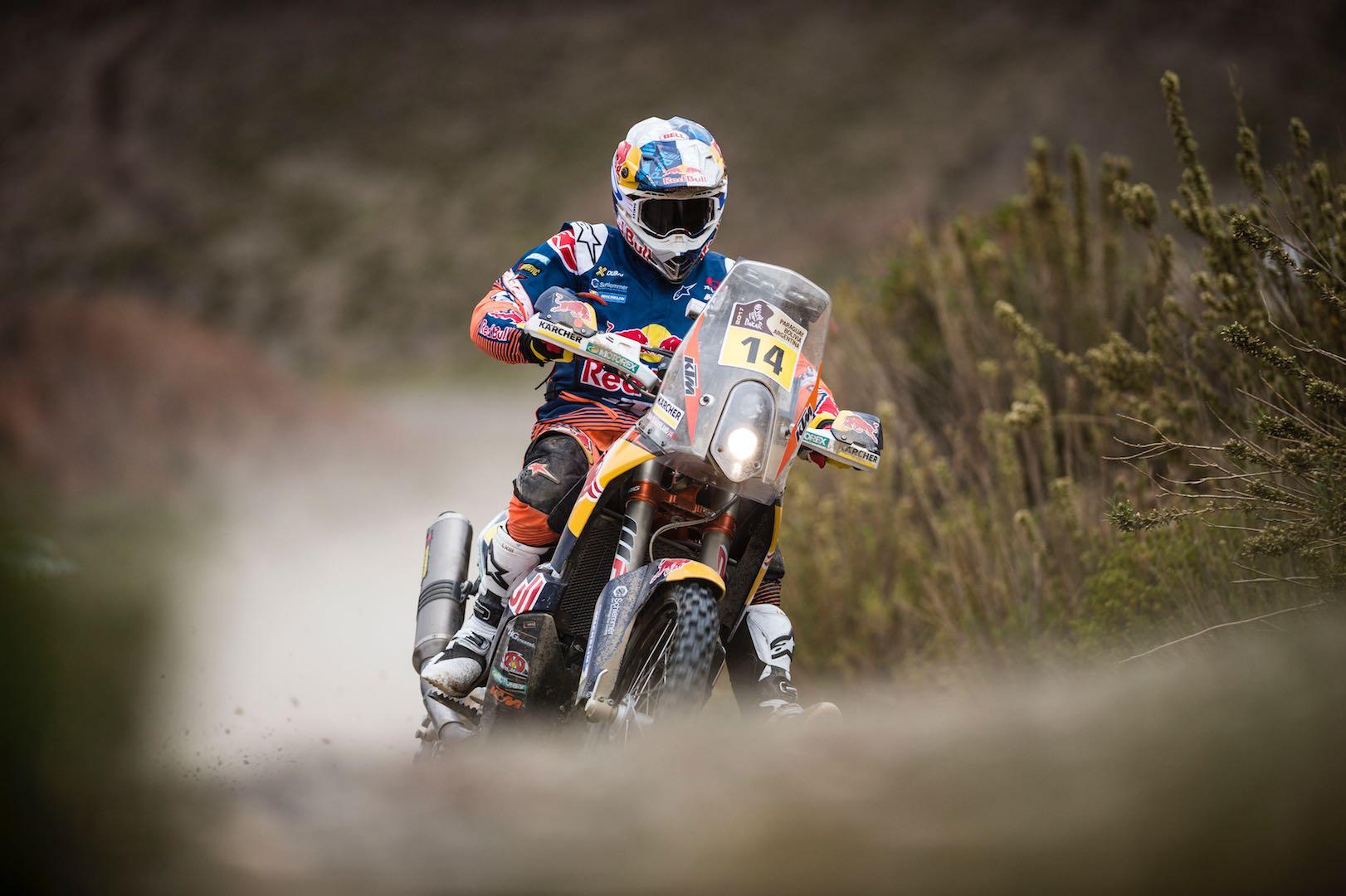 2017 Dakar Rally Stage 5, Motorcycles: KTM's Sunderland's Turn