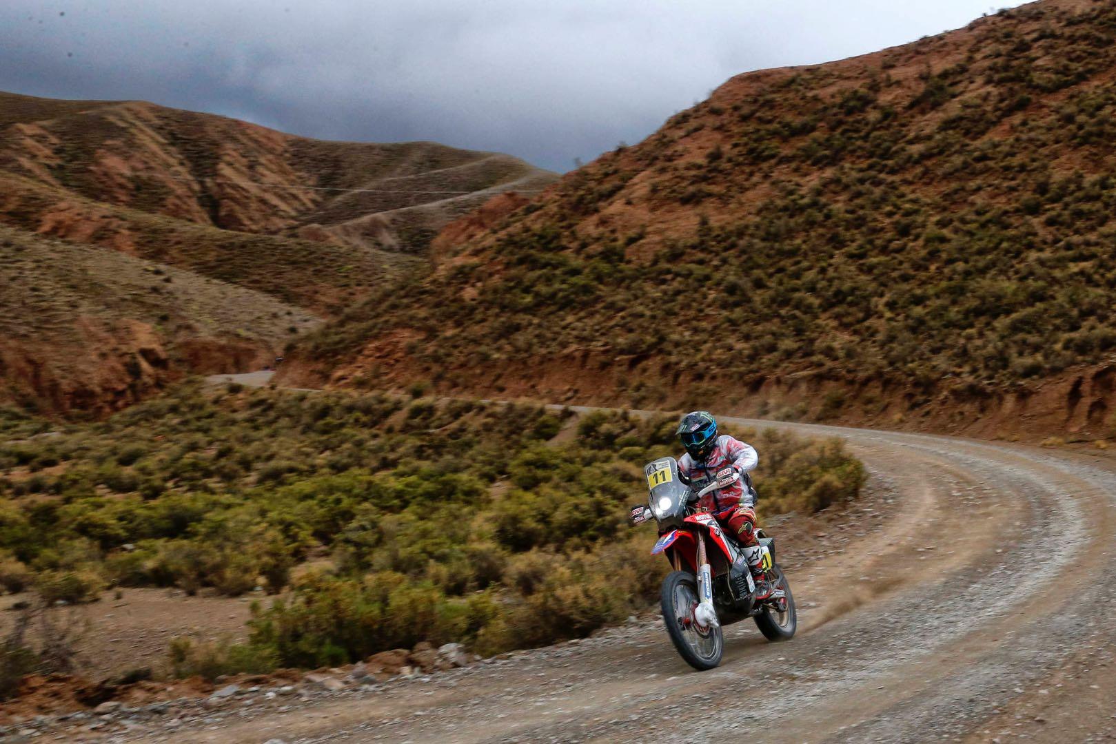 Honda Joan Barreda Bort 2017 Dakar Rally Stage 5