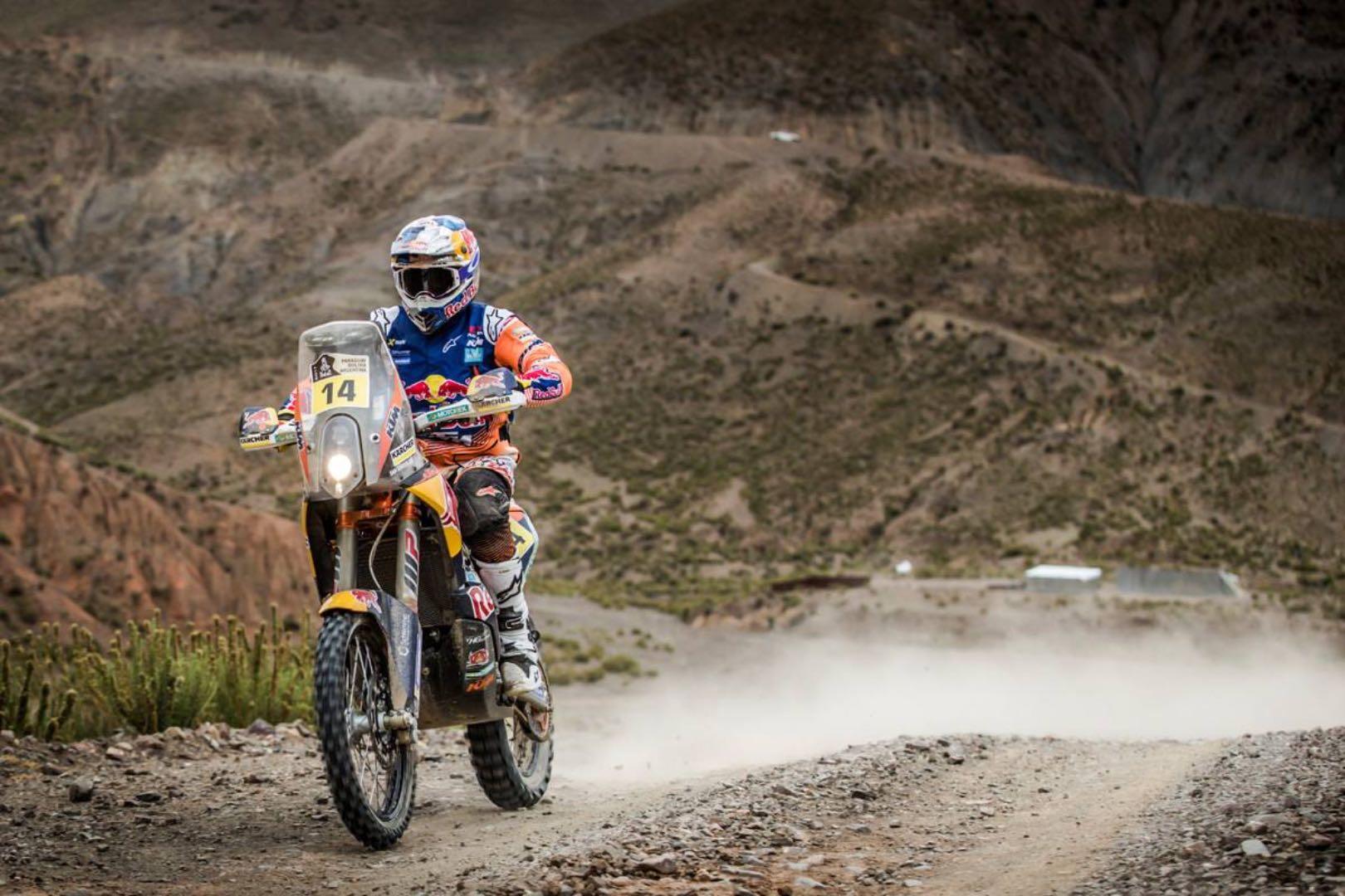 KTM's Sam Sunderland the overall leader of 2017 Dakar Rally