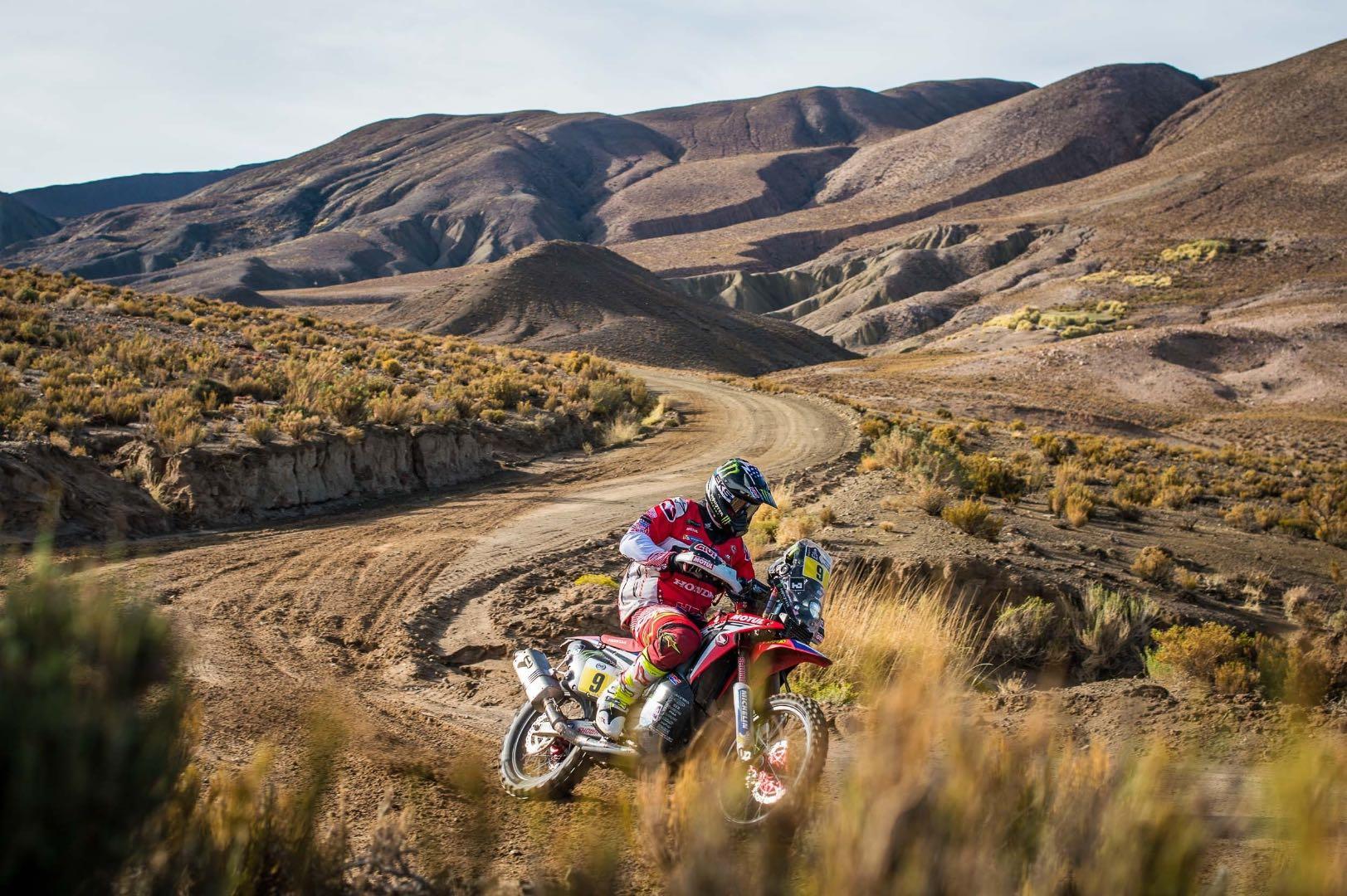Honda Ricky Brabec 8th overall after 2017 Dakar Rally stage 4