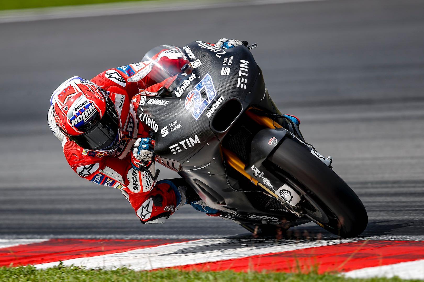 Ducati Test Rider Stoner Tops 1st Official 2017 MotoGP Test, Day 1