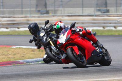 Ducati training on track