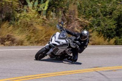 Knee down on Ducati Multistrada