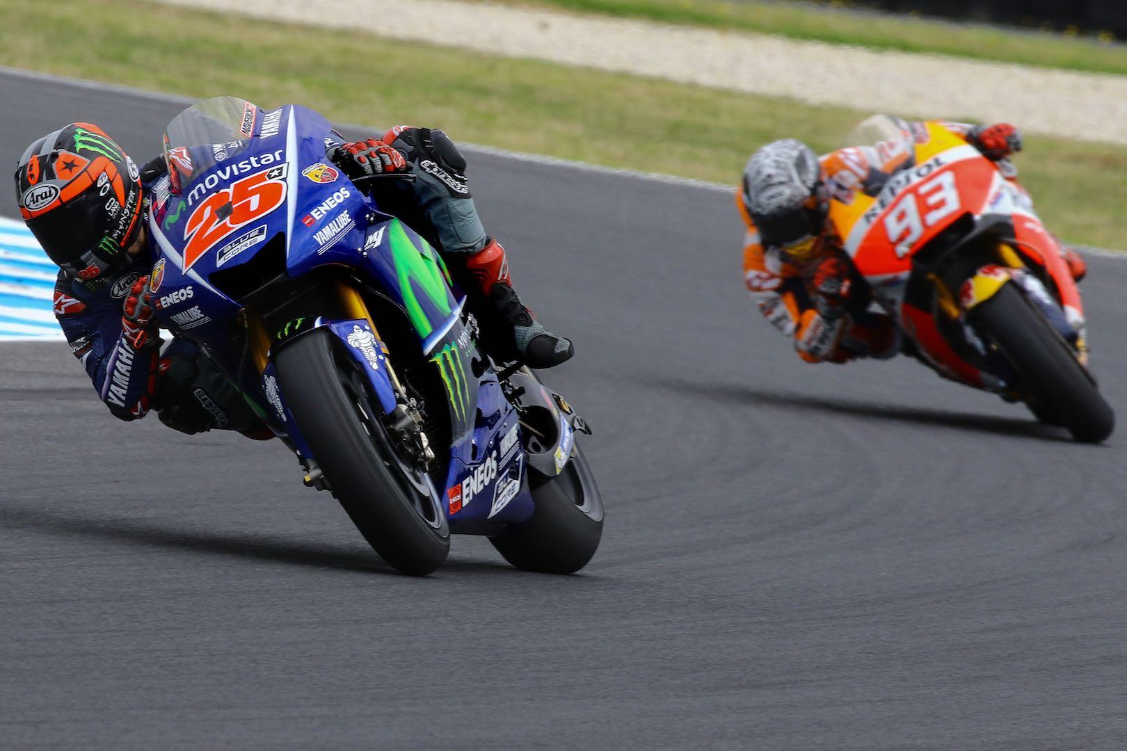 2017 Phillip Island MotoGP Test: Yamaha's Maverick Vinales leads Honda's Marc Marquez