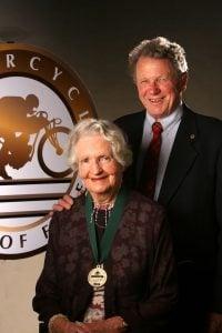 Burt Munro and wife