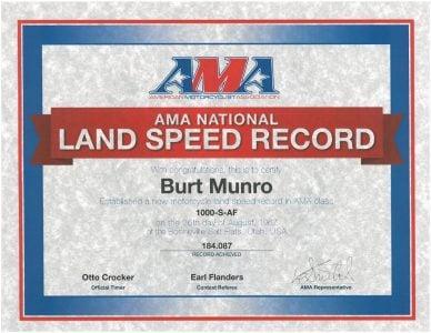 Munro AMA Speed Record