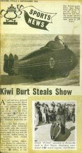 Burt Munro newspaper article