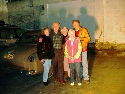 Burt Munro and family