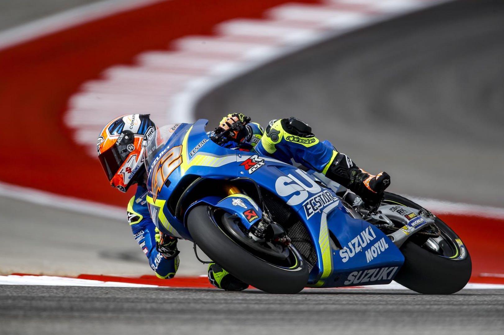 Suzuki's Alex Rins Breaks Wrist in COTA Crash; Out of Austin MotoGP