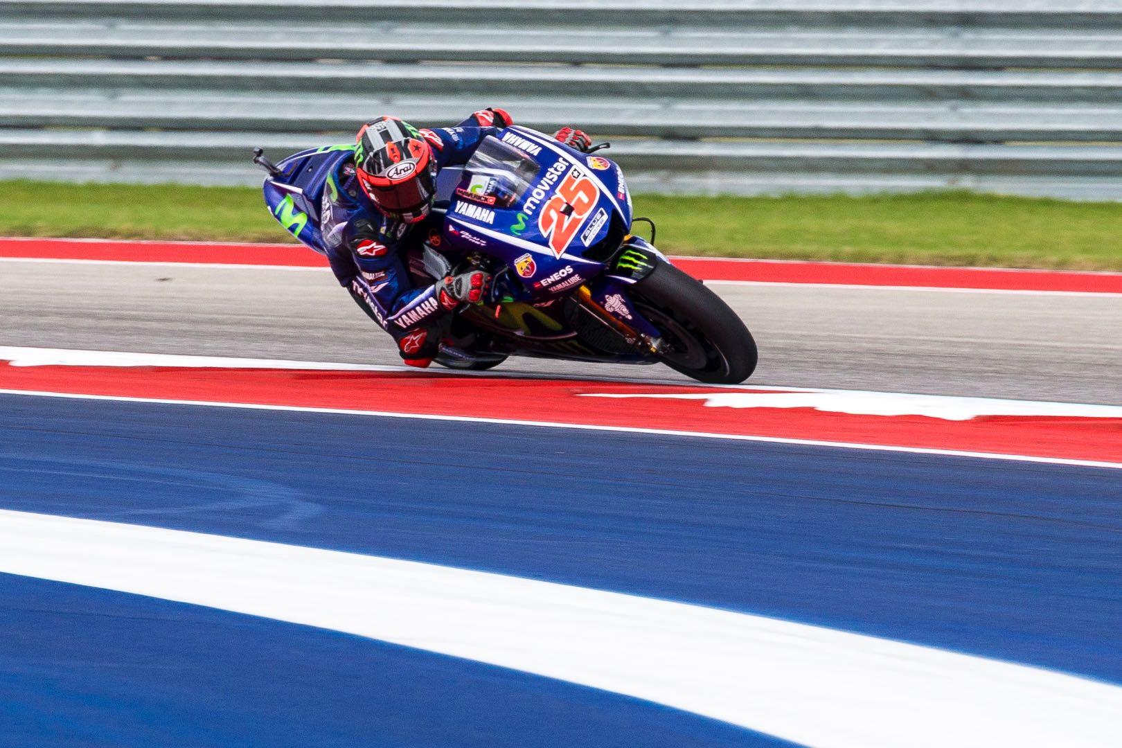Austin MotoGP Opening Practice Yamaha Maverick Vinales