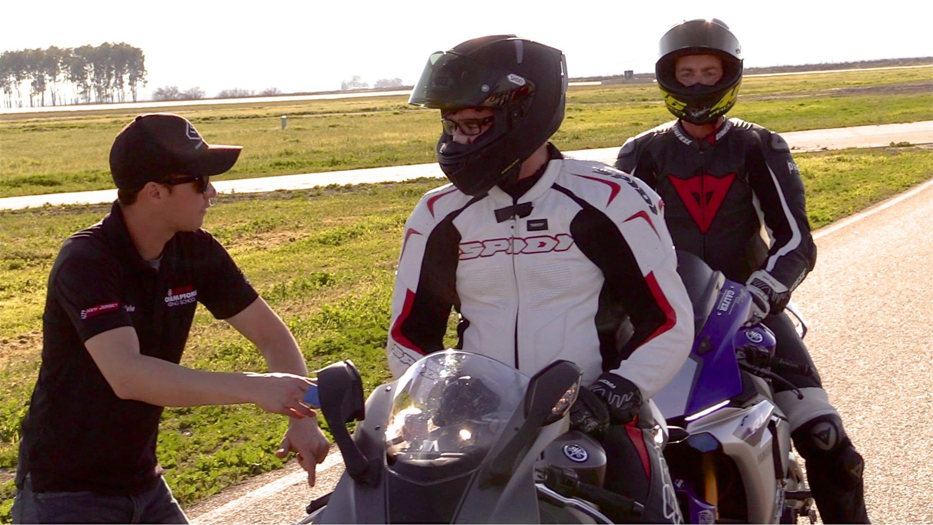 Yamaha Champions Riding School on-bike drill