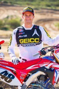 GEICO Honda's Christian Craig to 450SX for a race