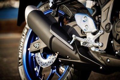 2017 Yamaha YZF-R3 exhaust