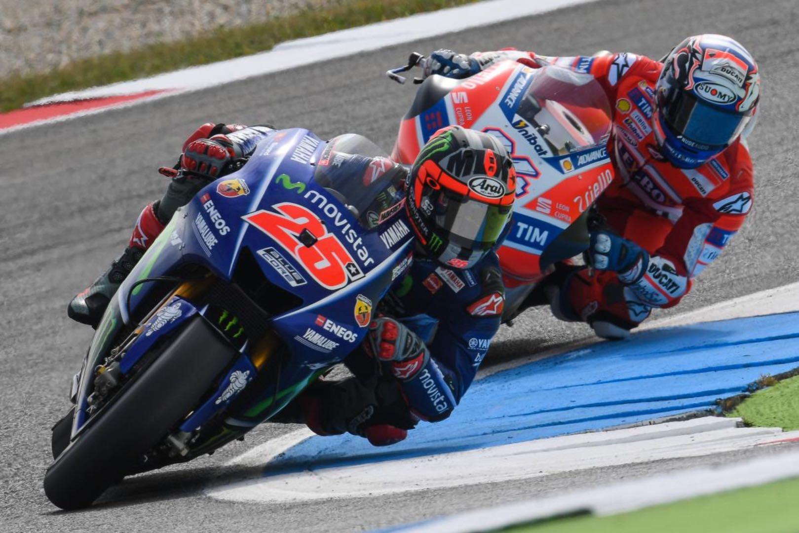 Yamaha's Vinales Tops Assen MotoGP Friday Practice