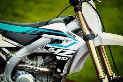 2018 Yamaha YZ450F white colors
