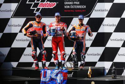2017 Austria MotoGP Results from Red Bull Ring: Dovi, Marquez, Pedrosa