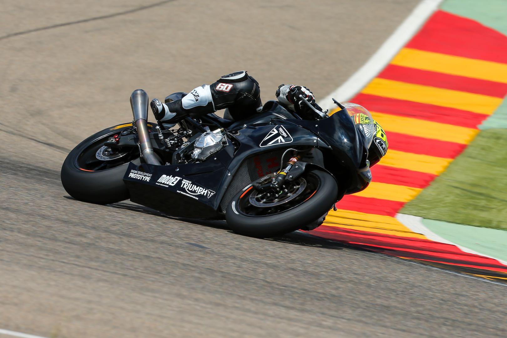 Triumph Moto2 Engine Development Update: Aragon Test (Photos)