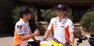 Marquez & Pedrosa Analyze Honda RC213V and CBR1000RR