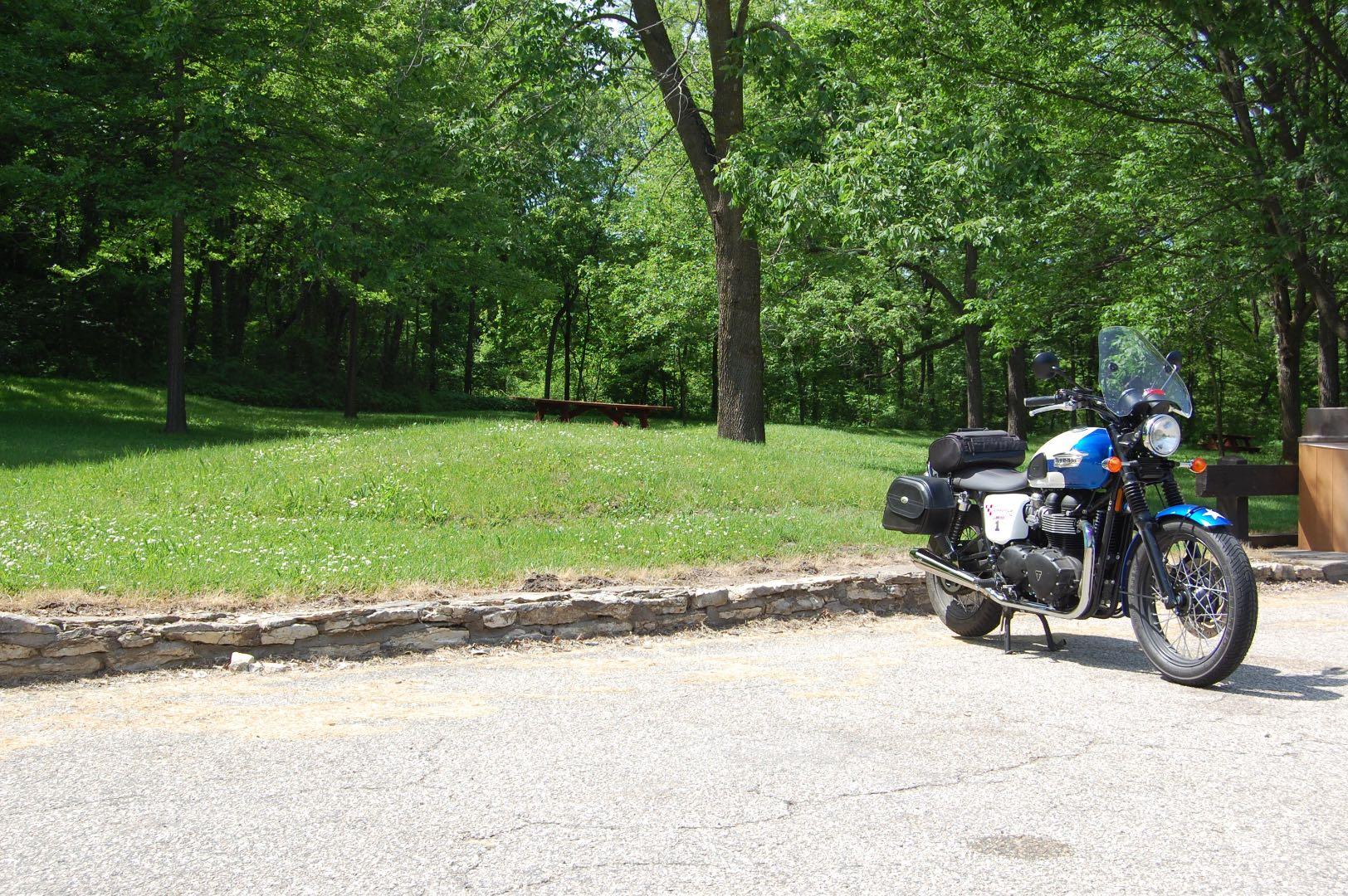 Triumph Exploring Motorcycle