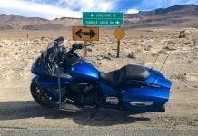 2018 Yamaha Star Eluder Test - Death Valley Sign