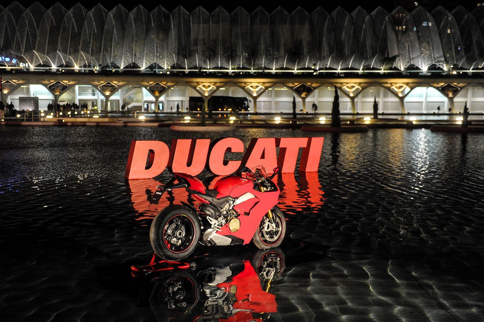 Ducati Panigale V4 in Valencia