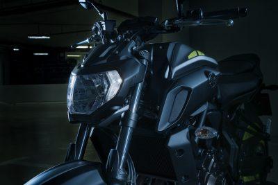 2018 Yamaha MT-07 First Ride Review headlight
