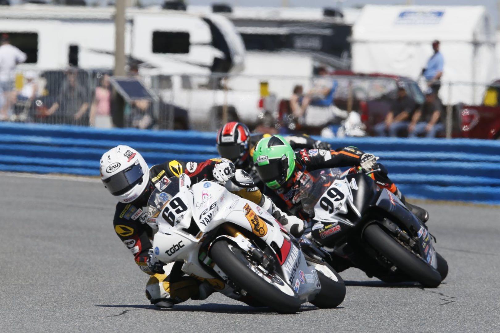 Danny Eslick leading 2018 Daytona 200