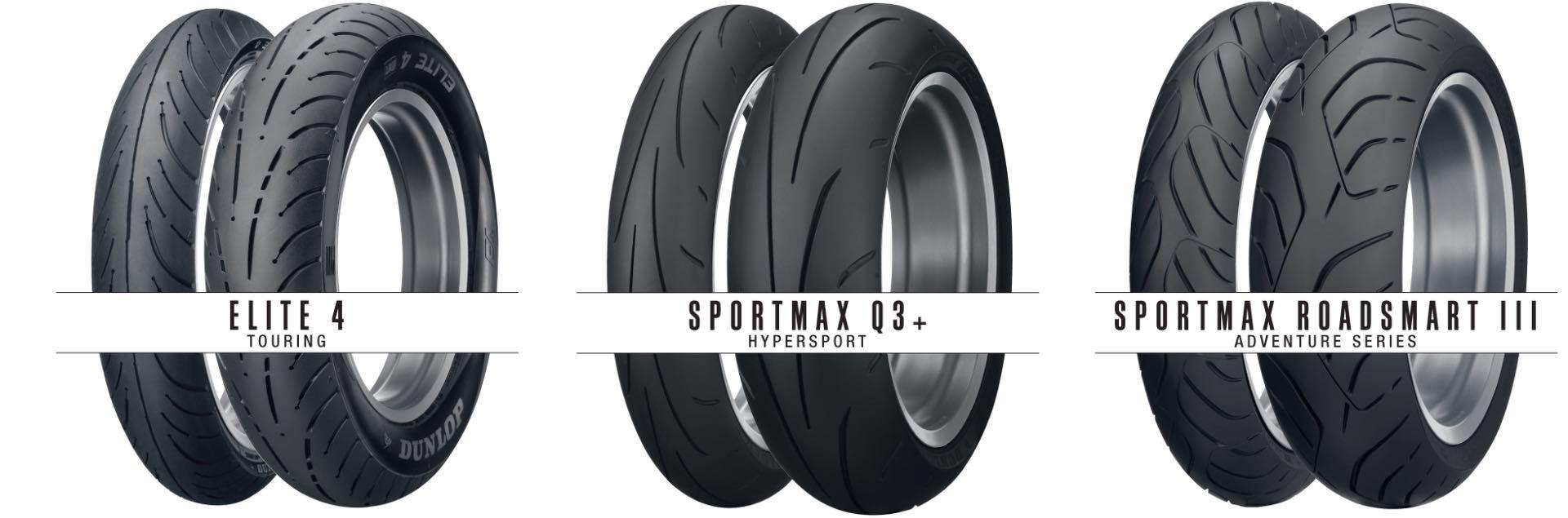 Dunlop: New Sizes Across Sportmax & Elite 4 Motorcycle Tires